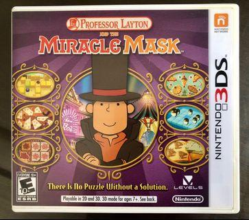 🚚 Nintendo 3DS Game: Professor Layton and the Miracle Mask