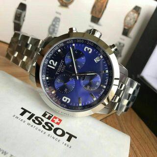 💯 ORIGINAL TISSOT PRC 200 CHRONOGRAPH BLUE DIAL STEEL