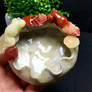 壽山石聚寶盤