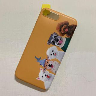 Iphone7+ 矽膠手機殼 狗 線條 人物 保護殼 保護套 手機套