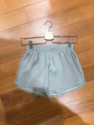 [BN] Grey Crochet Runner Shorts