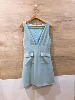 🚚 Megagmie Sky Blue Pinafore Dress