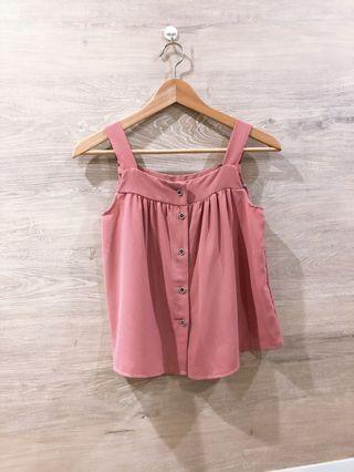 🚚 Pink Buttons Down Top