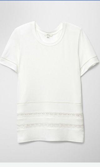 Aritzia Wilfred Lace white reve t shirt