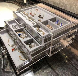 (E1008043) 飾物抽屜收納盒 光面/鑽石紋