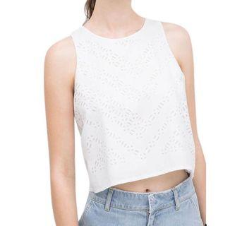 Whit Cut Out Top