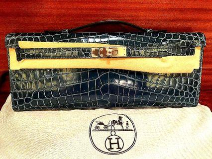 全新正品Hermès鱷魚手包💕賠售含運寄順豐