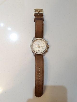 Fossil Watch Crystal Bezel Chronograph Leather CH2724 #MRTPasirRis