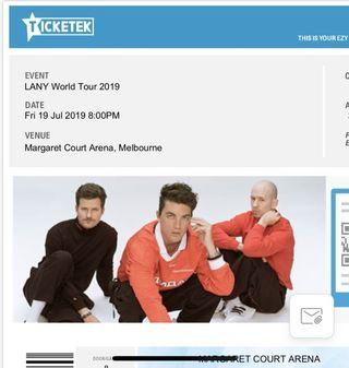 Lany Melbourne Ticket x1 General Admission
