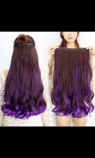 (NO INSTOCKS!)Preorder korean two tone gradient Wavy clip on hair extensions* waiting time 15 days after payment is made * chat to buy to order