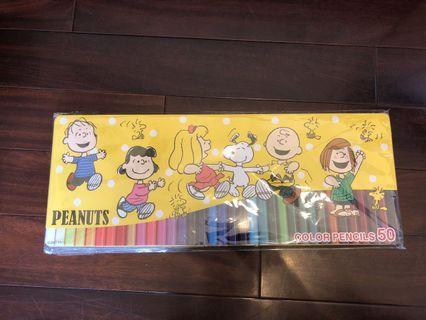 日本鐵盒50色 史努比色鉛筆