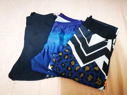 清 $120/3 條 細碼  Adidas / G fit Leggings 運動長褲 (只郵寄不面交)