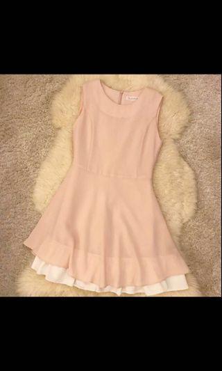 Korea nude pink dress
