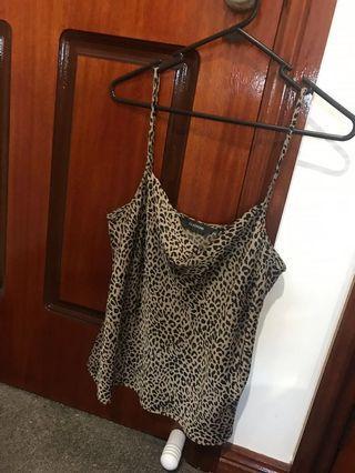 Leopard print satin top