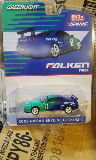 1/64 Greenlight Nissan 日產 Falken Skyline GT-R R34 (非 tomica hot wheels hotwheels mini gt tiny)