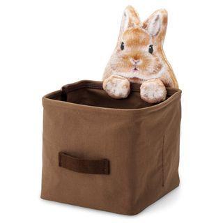 兔兔收納箱 (啡黃兔)