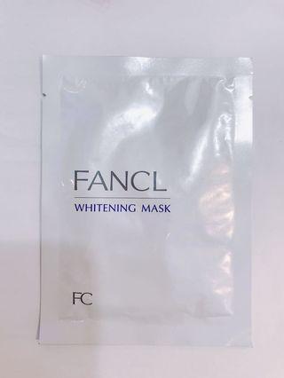 Fancl Whitening Mask 1片