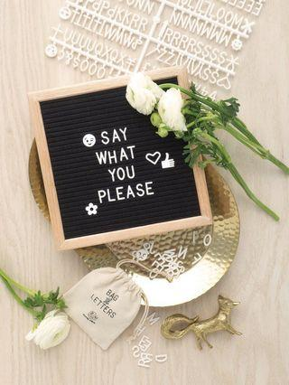 🚚 Letter felt board