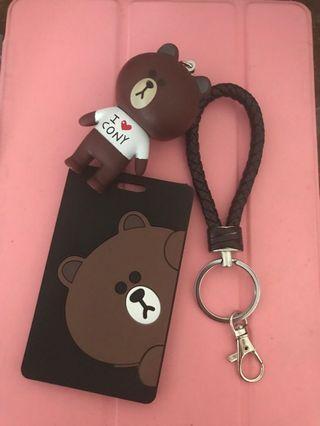 Line bear card tag