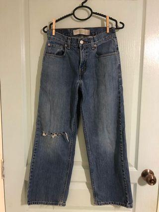 Levi's denim Flare ripped mom Jeans