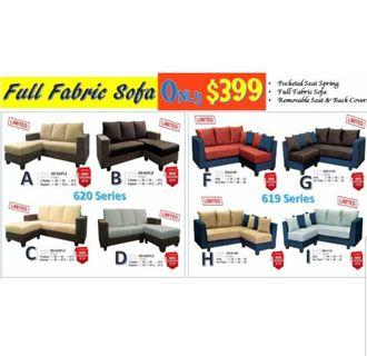 Full Fabric Sofa Set with all cushions