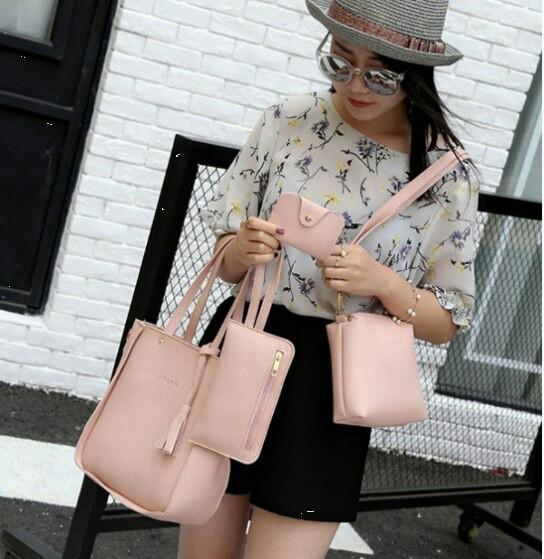 ❤4 in 1 Sammi Bag Shoulder Sling Tote Beg Purse Handbag Wallet Raya Purse Perempuan Set❤