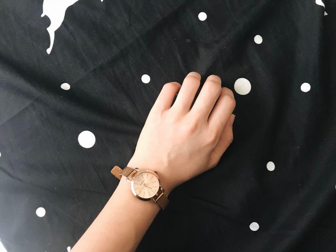 金屬錶帶 手錶 玫瑰金