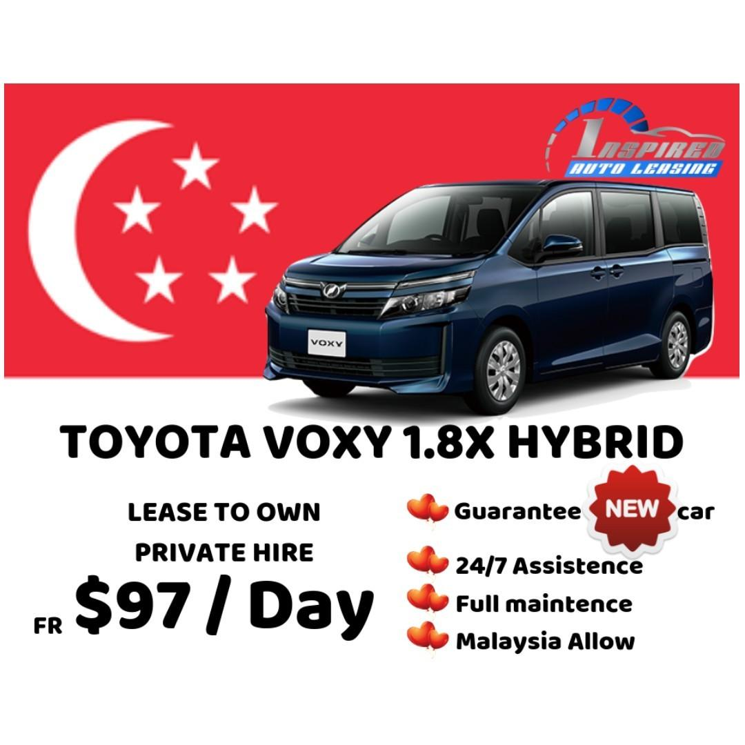 [ Brand New ] TOYOTA VOXY 1.8X HYBRID * Lease To Own *