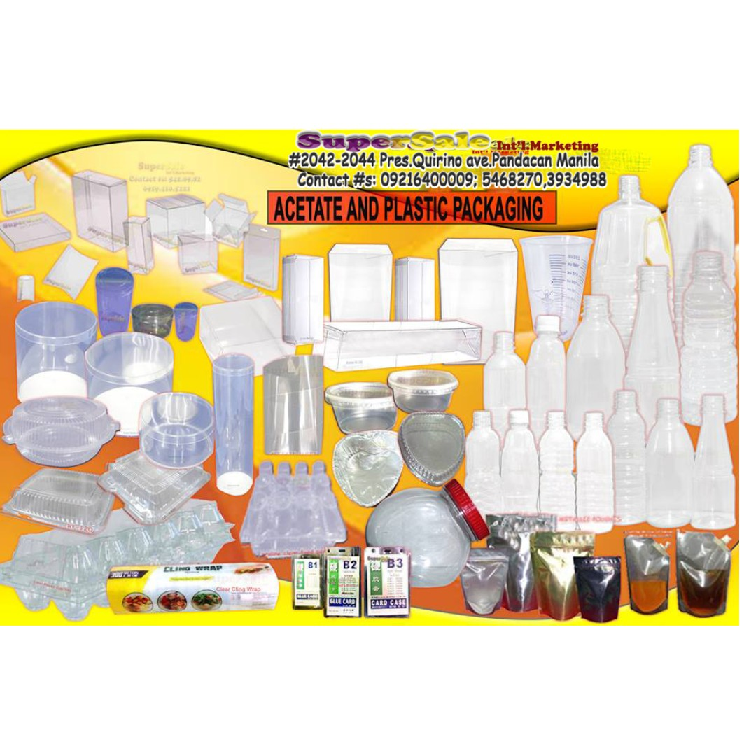 Acetate and Plastic Packaging Food Grade Gift Giveaways Donations