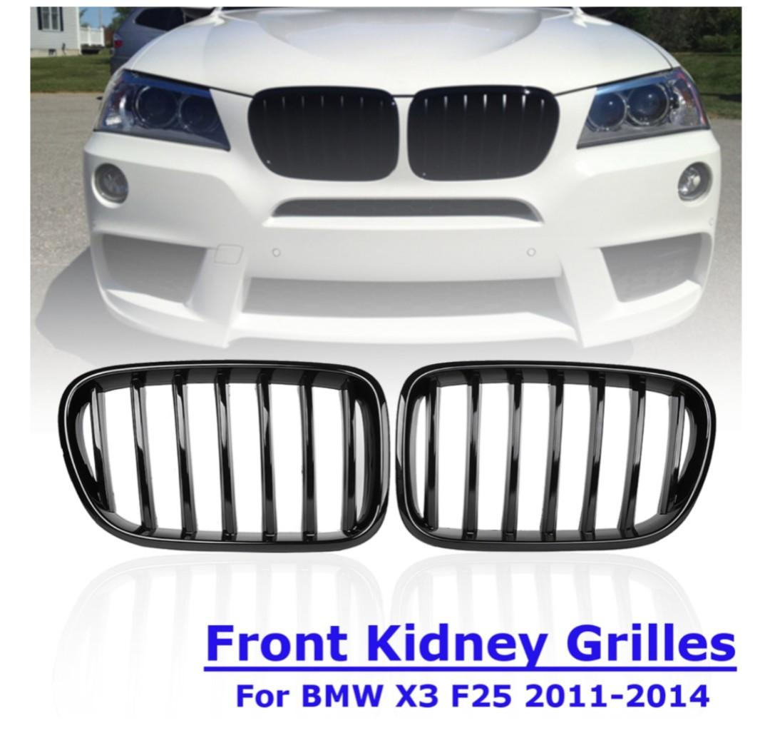 BMW X3 F25 (2011 - 2014) Front Kidney Grille Gloss Black