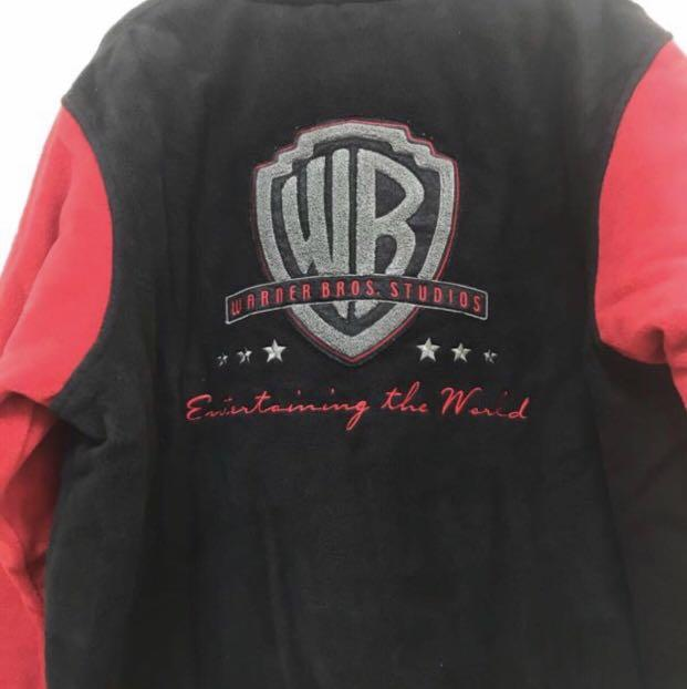 Brand New Authentic Warner Bros Studios Store Jacket Black & Red