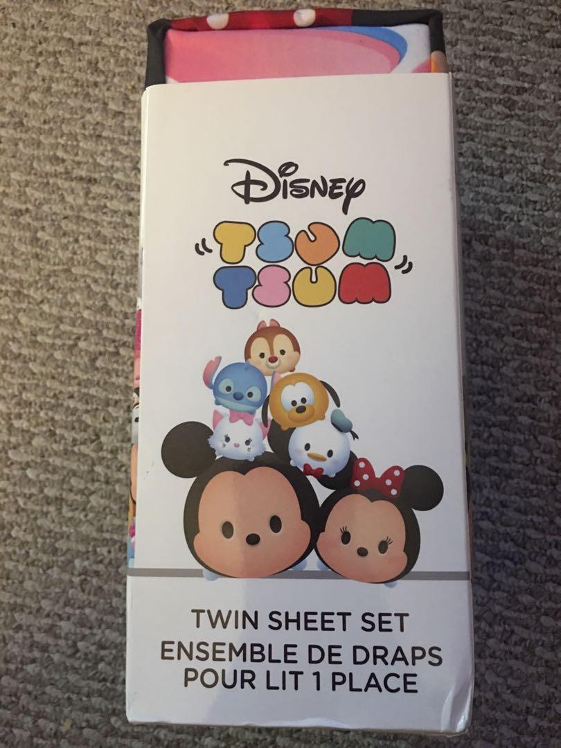 Brand new in packaging Disney tsum tsum twin sheet set