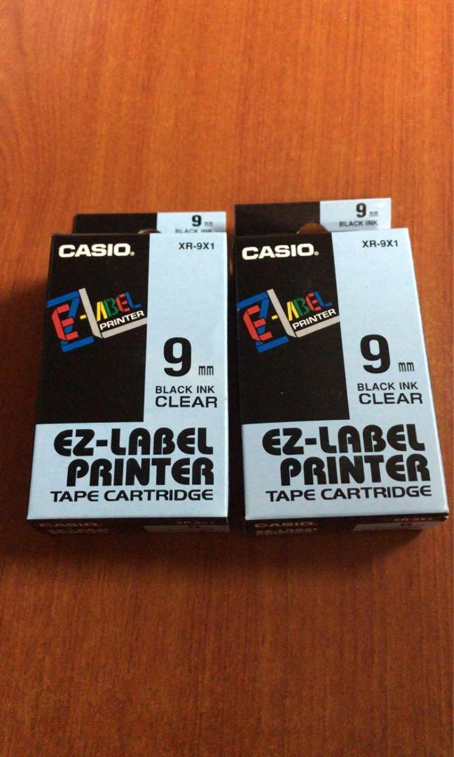 Casio EZ label 9mm Printer Tape Cartridge