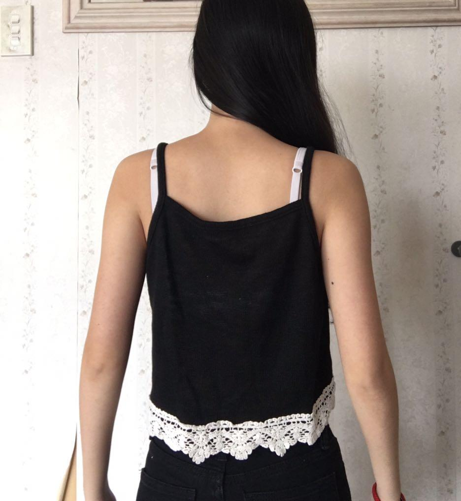 Cute Cami with Crochet Trimming Valley Girl