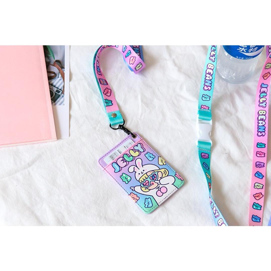 [Instock] Cutie Girl [Jelly] Lanyard Card Holder By Milkjoy