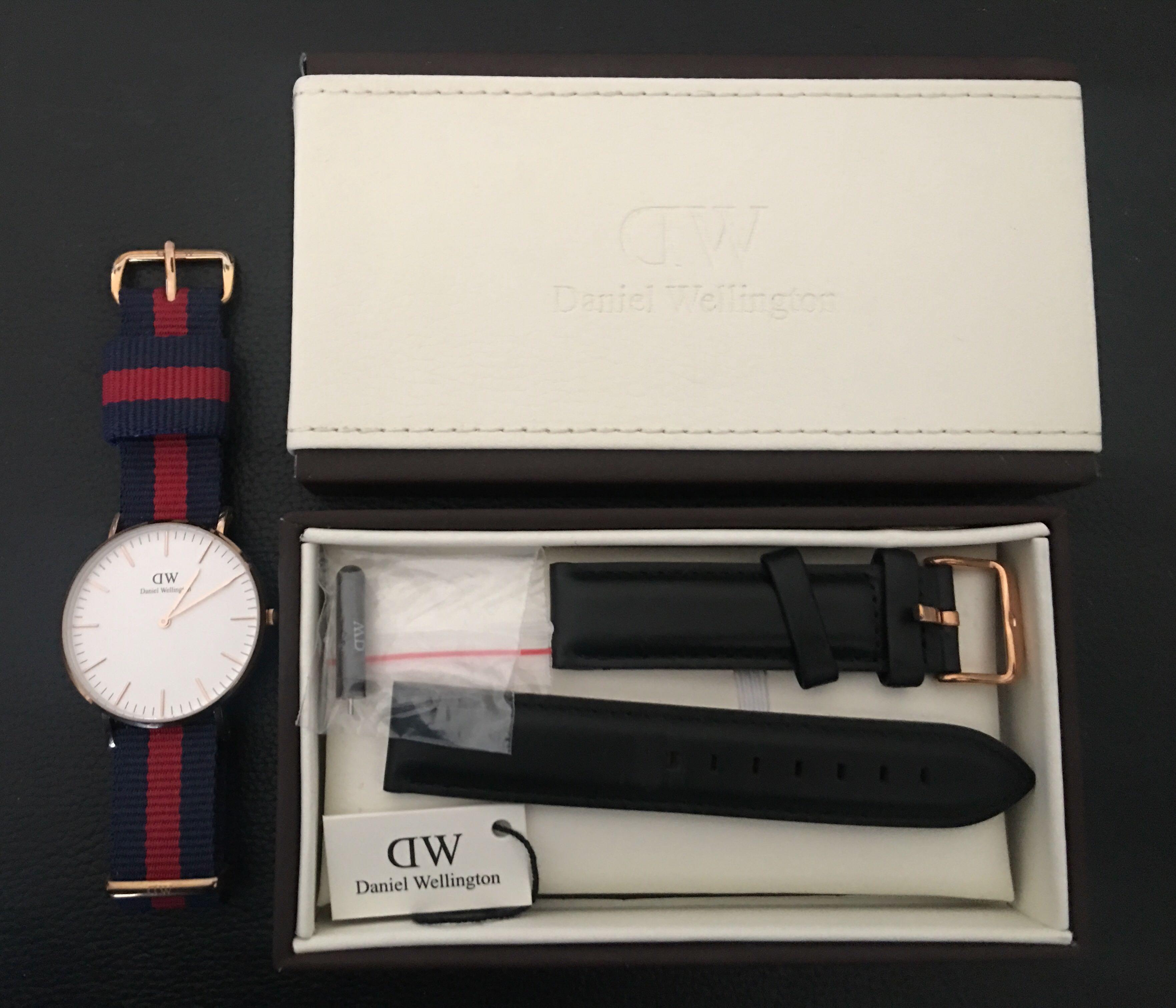 Daniel Wellington Classic 36mm Watch w/ Rose Gold Detail