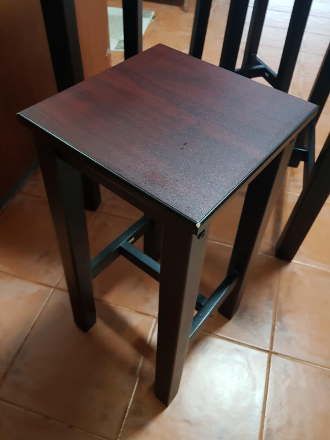 High Dining Table & High Stools For 2 people
