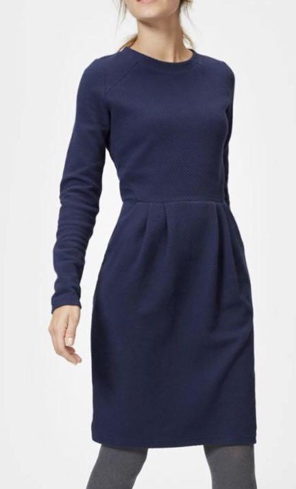 Joules Daylia Shift Dress French Navy Blue Size 10 NEW