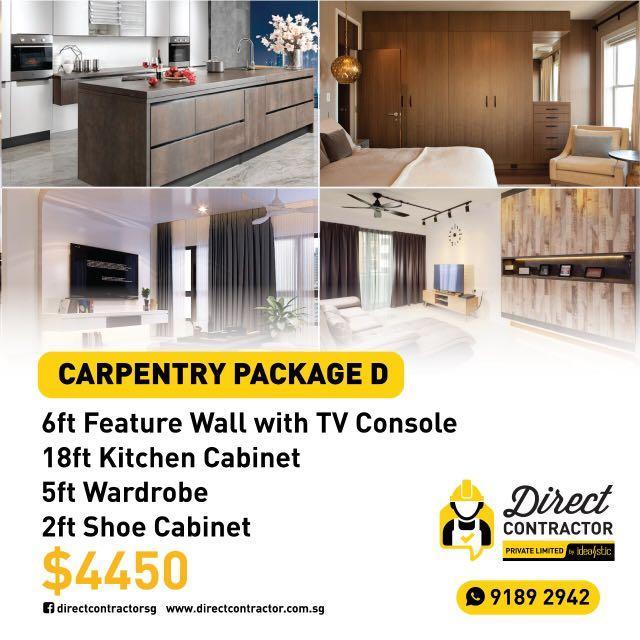 Kitchen Cabinet + wardrobe + TV console + shoe cabinet
