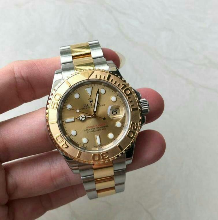 Like new RARE ROLEX YACHTMASTER 40mm Two Tone Yellow Gold with Steel Stamp Oct '2008 Unpolish•Complete Box n Card