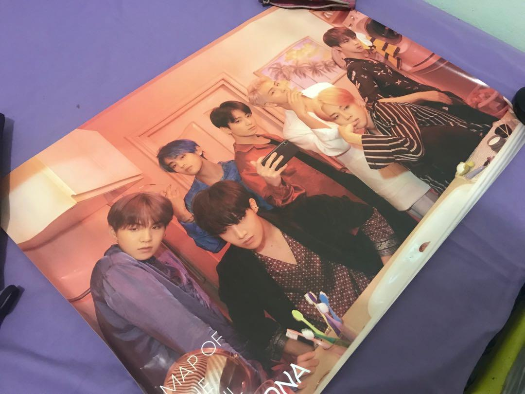 Map of The Soul : Persona BTS ver. 2 poster ONLY + FREE TUBE (minor defect)