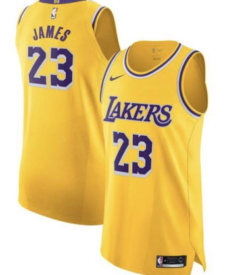 buy popular a9e31 038f5 Nike AU Authentic Lebron James LA Lakers Jersey