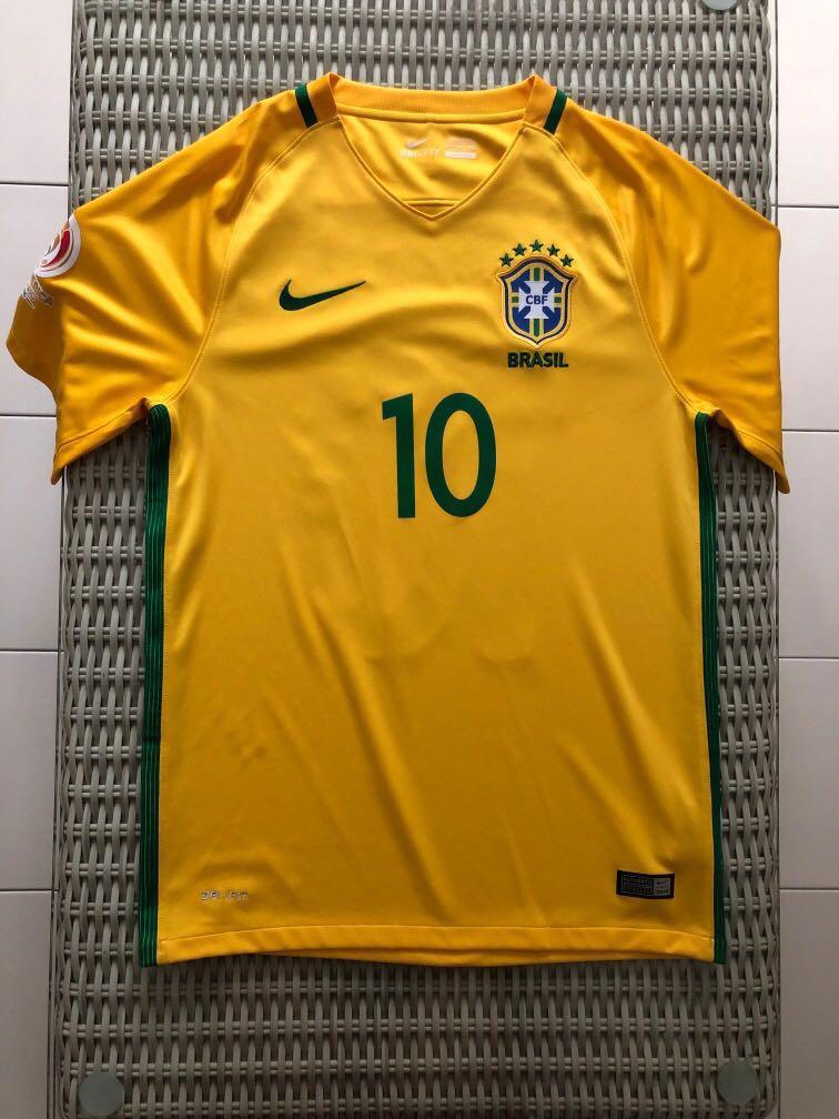 finest selection c3d54 05f64 Nike💯% Authentic yellow Brazil home jersey w 'Neymar Jr 10 ...