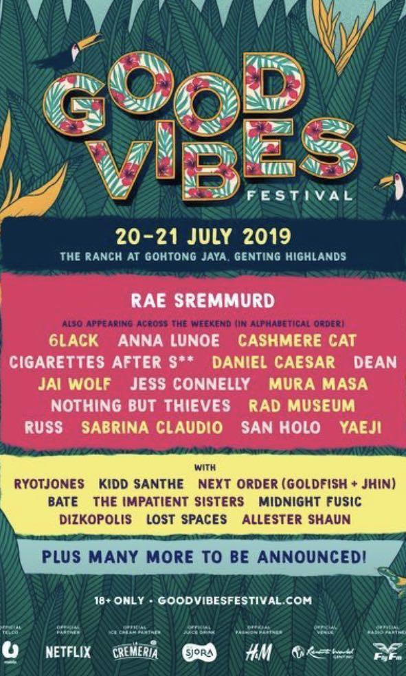 One good vibes ticket 2 days GA