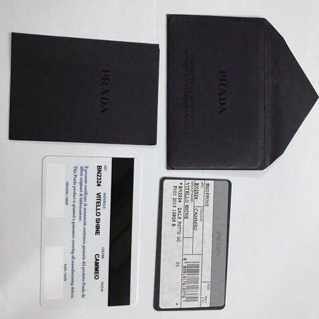 Prada BN2324 Vitello shine Cammeo Authentic lengkap sett dan Like New VVGC