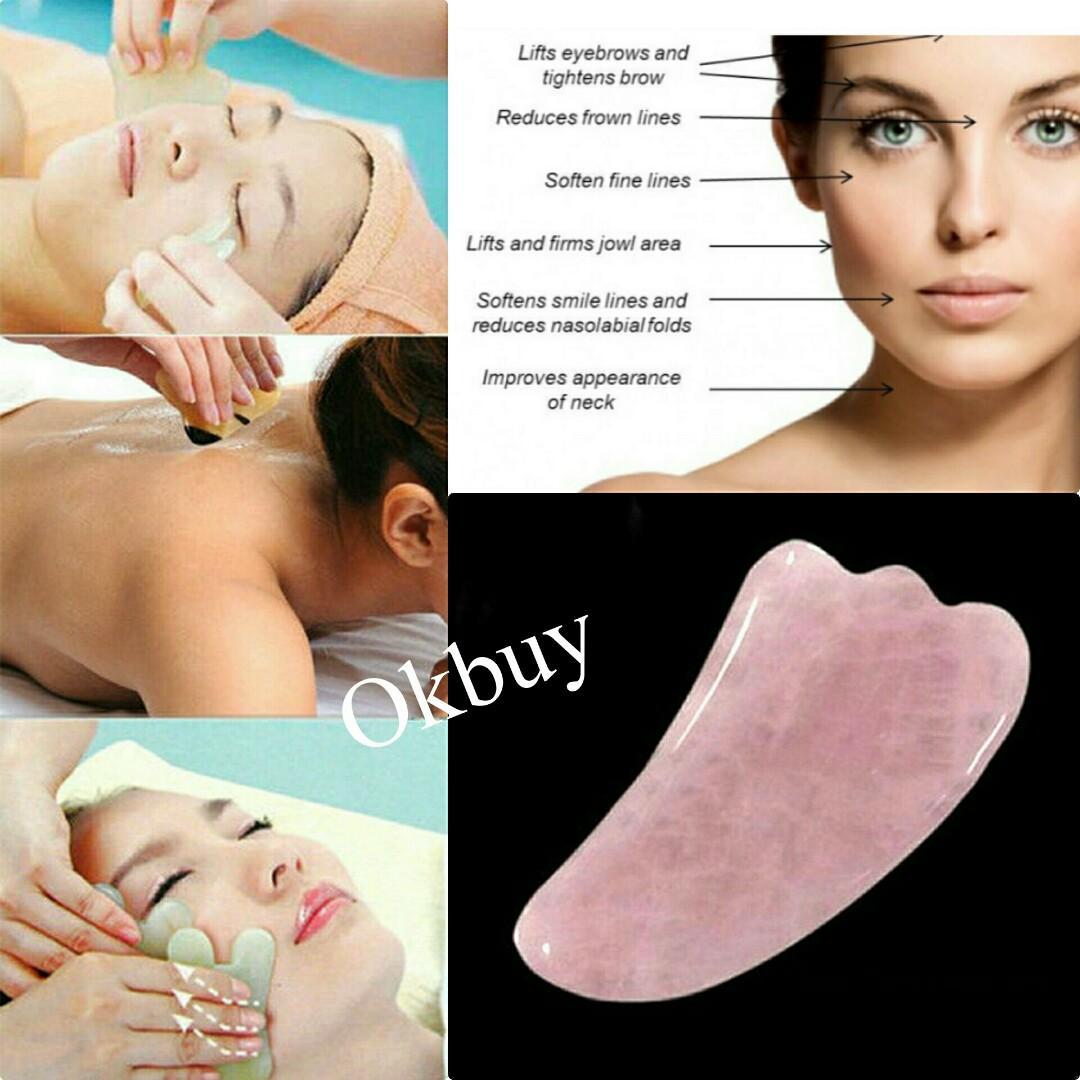 Rose Quartz Gua Sha Tool Sculpty Tool Anti-Aging Facial Skin Facial Beauty Body Health Massage