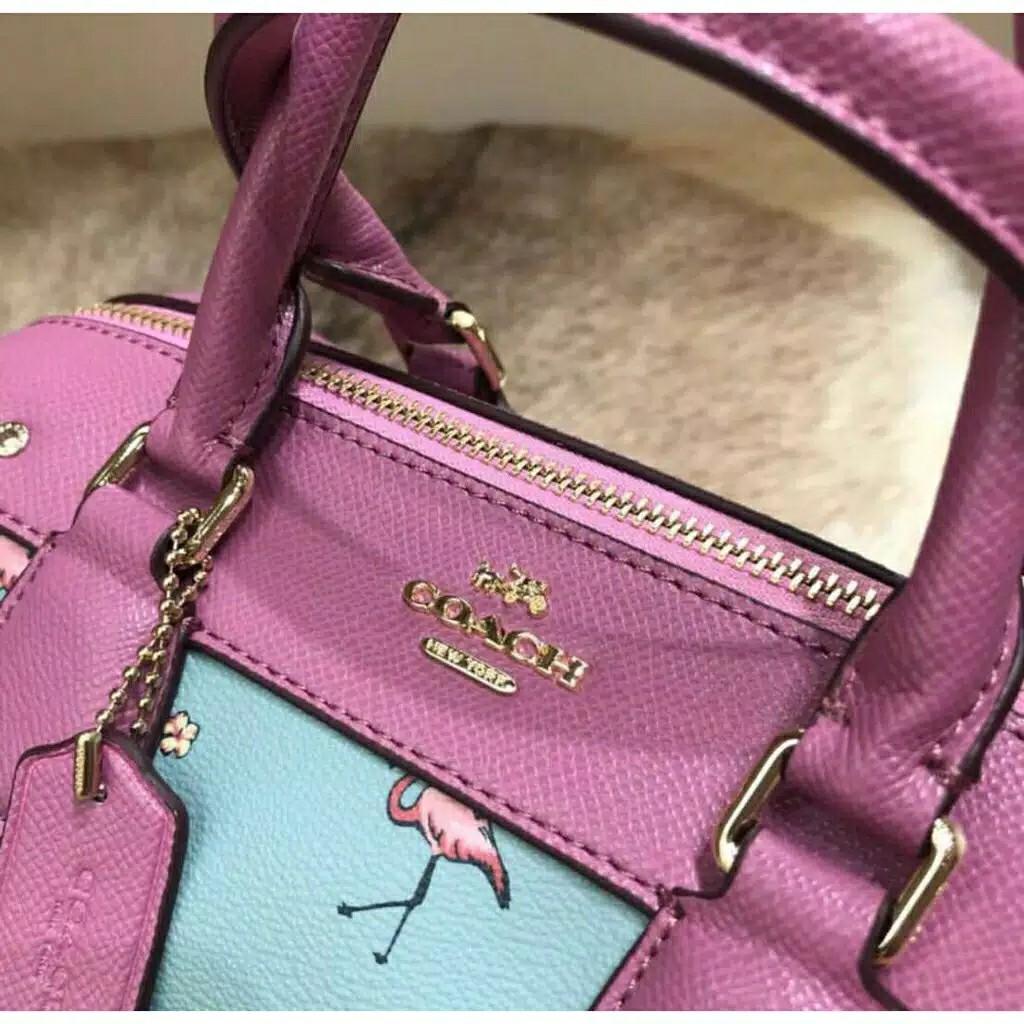 SALE Coach Mini Bennet duffle handbag sling bag motif flamingo vintage #joinjuli