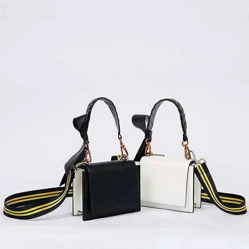 SALE tas charles and keith ori china stripe strap sling bag shoulder bag kekinian #joinjuli