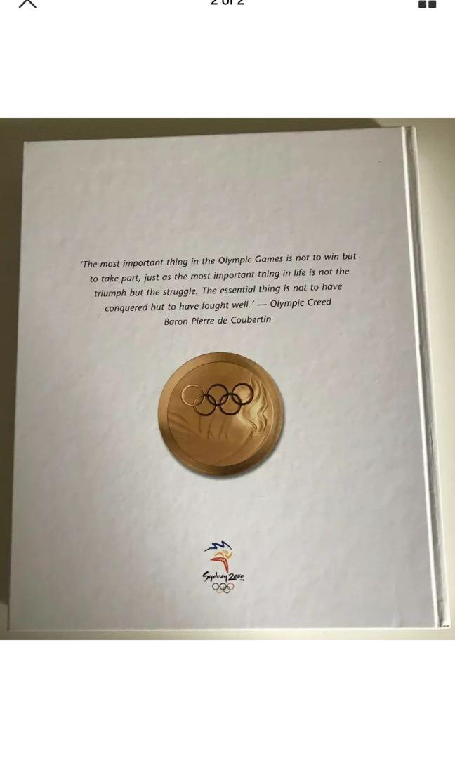 SYDNEY 2000 THE OFFICIAL SOUVENIR BOOK - GOLD COLLECTOR SERIES XXV11 Olympiad
