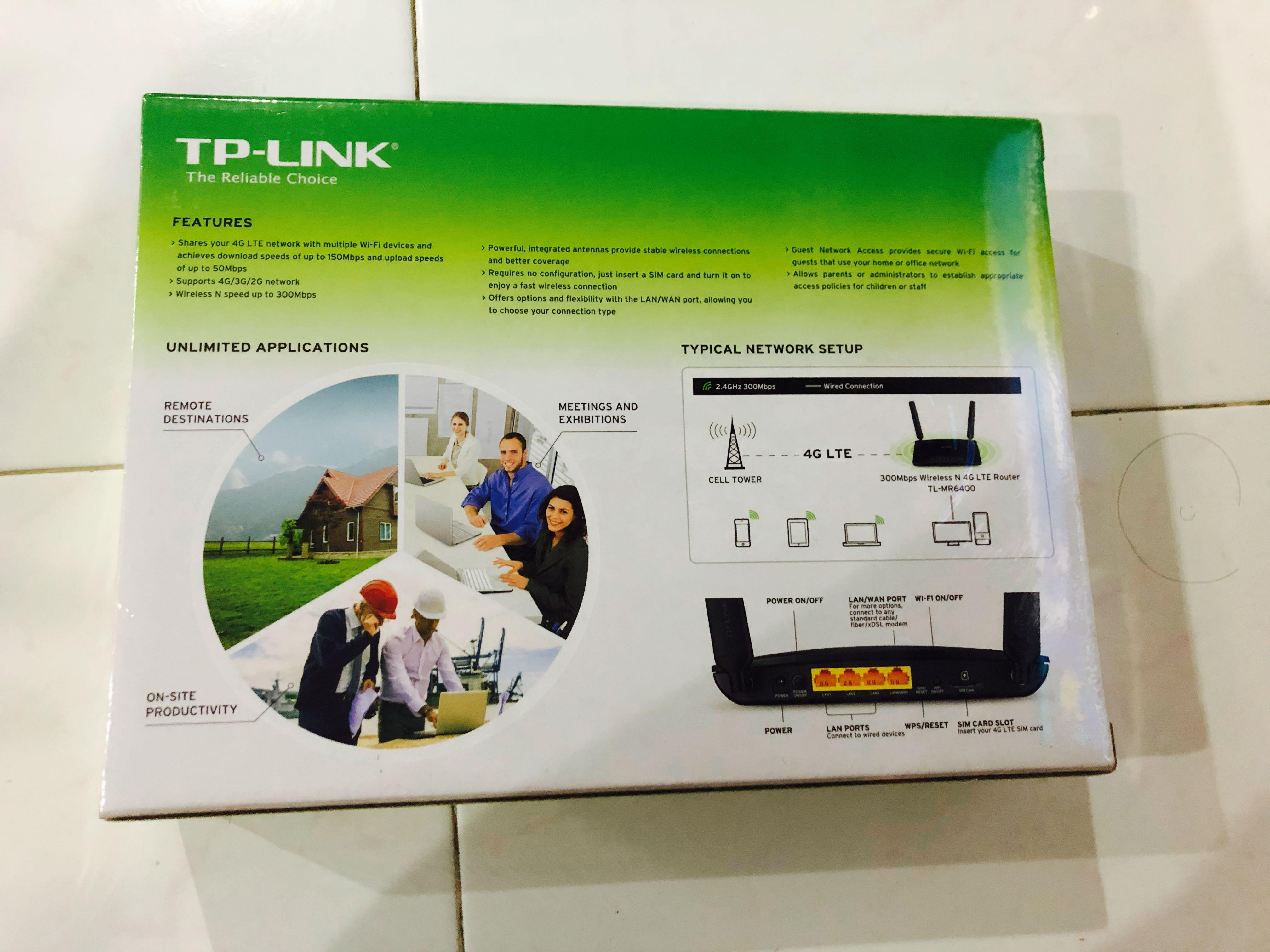 TP-Link 300Mbps Wireless N 4G LTE Router, Electronics
